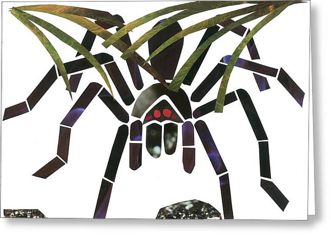 Invertebrates Mixed Media Greeting Cards - Tarantula Greeting Card by Earl ContehMorgan