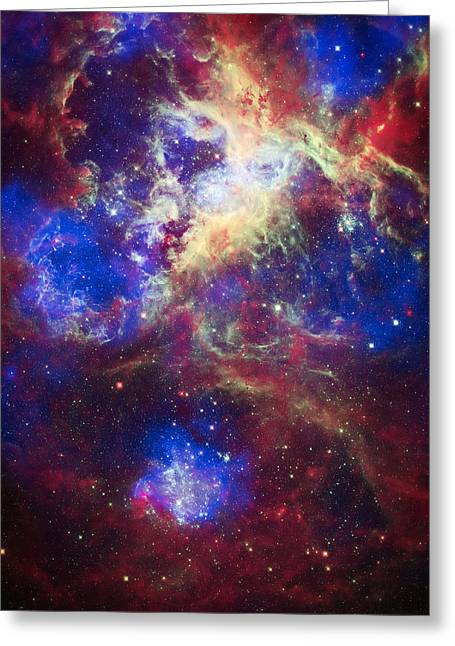 Tarantula Nebula 2 Greeting Card by The  Vault - Jennifer Rondinelli Reilly