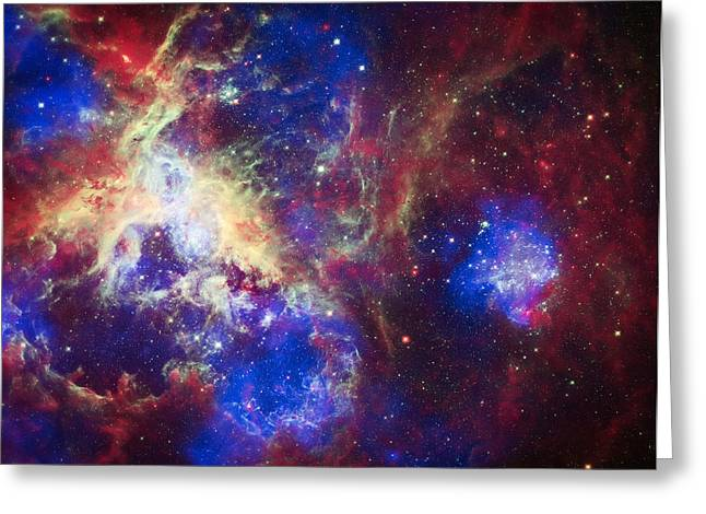 The Hubble Telescope Photographs Greeting Cards - Tarantula Nebula 6  Greeting Card by The  Vault - Jennifer Rondinelli Reilly