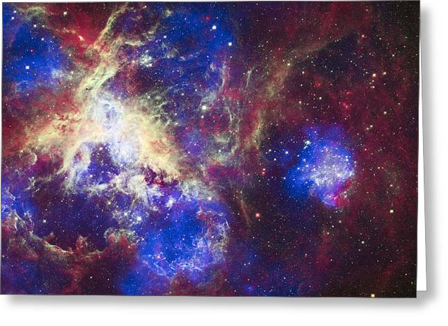 Hubble Photographs Greeting Cards - Tarantula Nebula Greeting Card by Adam Romanowicz