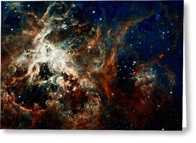 Jet Star Greeting Cards - Tarantula Nebula Greeting Card by Amanda Struz