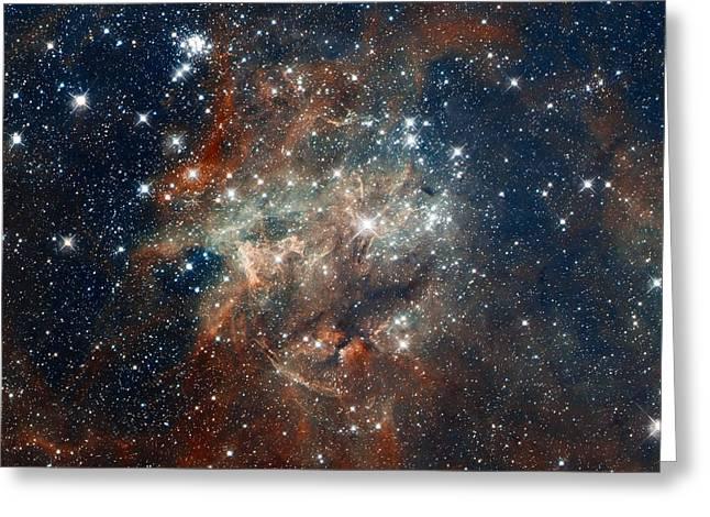 Magellanic Greeting Cards - Tarantula Nebula Greeting Card by Eric Glaser