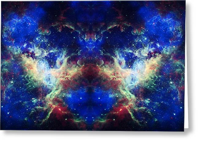 Tarantula Nebula Reflection Greeting Card by The  Vault - Jennifer Rondinelli Reilly
