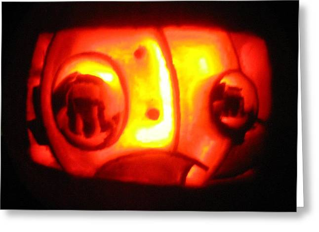 Pumpkins Sculptures Greeting Cards - Tarboy Pumpkin Greeting Card by Shawn Dall