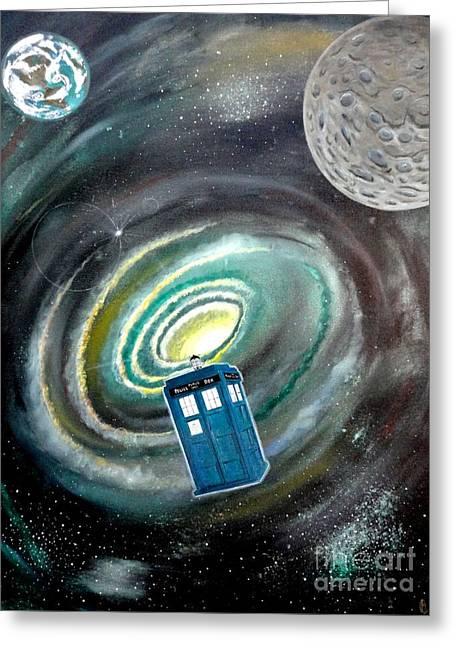 Pretends Art Greeting Cards - Tardis Greeting Card by John Lyes