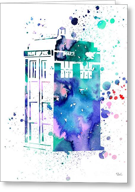 Doctor Who Greeting Cards - Tardis Greeting Card by Luke and Slavi