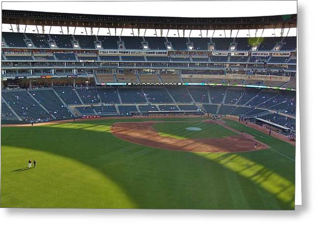 Pastimes Mixed Media Greeting Cards - Target Field 3 Greeting Card by Todd and candice Dailey