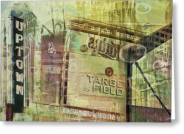 Target Field Greeting Cards - Target Field and Uptown Greeting Card by Susan Stone