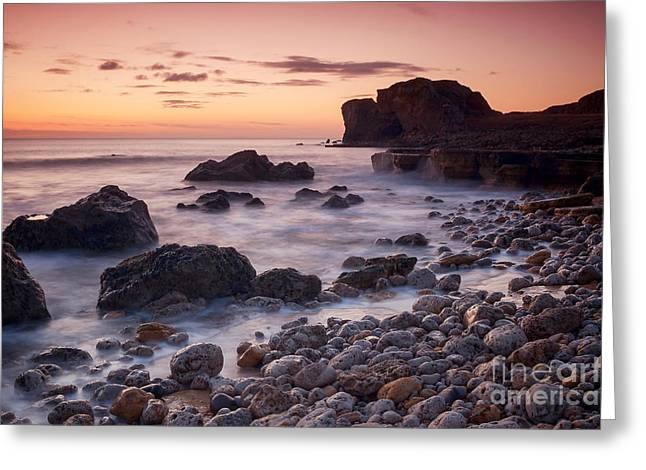 Target Rock Sunrise Greeting Card by Ray Pritchard