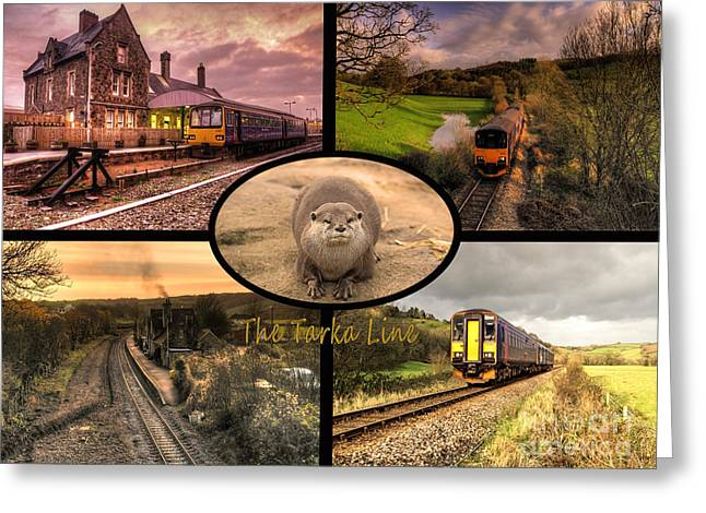 Sprinter Greeting Cards - Tarka Line  Greeting Card by Rob Hawkins