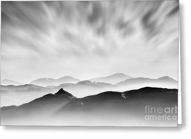 Haze Greeting Cards - Tarmachan Ridge Greeting Card by Rod McLean