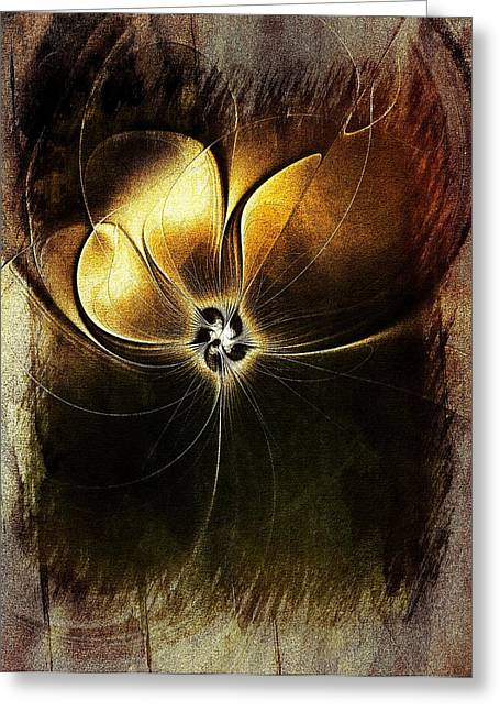 Floral Digital Art Digital Art Greeting Cards - Tarnished Greeting Card by Amanda Moore