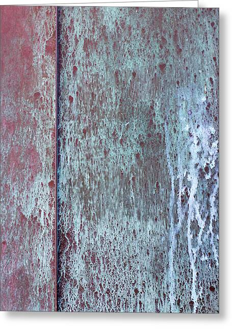 Metal Sheet Greeting Cards - Tarnished Tin Greeting Card by Heidi Smith