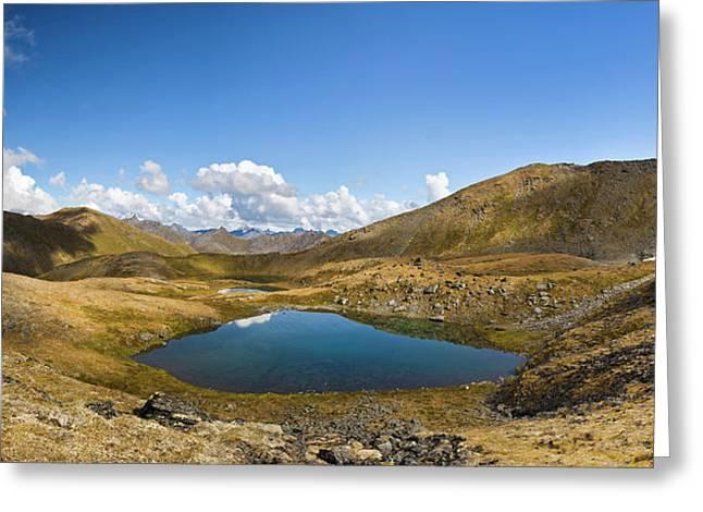Tarns At April Bowl In Summit Lake Greeting Card by Panoramic Images