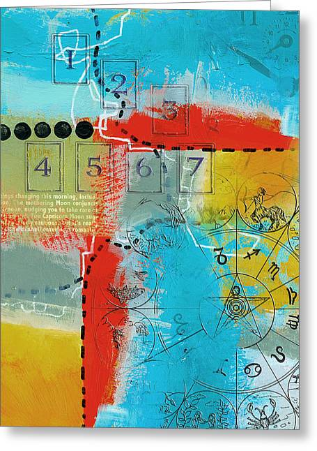 Tarot Cards Greeting Cards - Tarot Art Abstract Greeting Card by Corporate Art Task Force