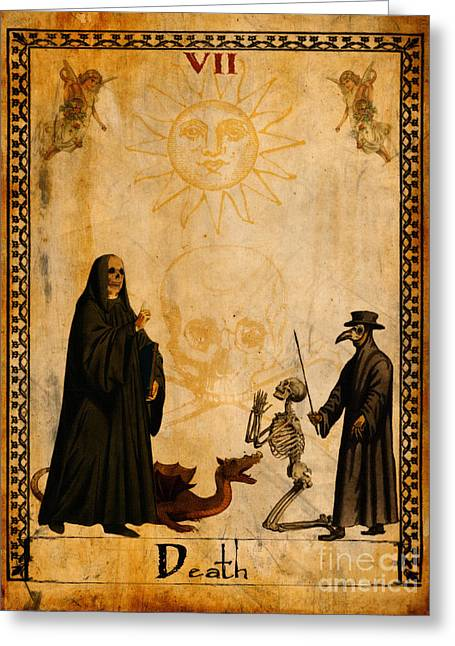 Gothic Greeting Cards - Tarot Card Death Greeting Card by Cinema Photography
