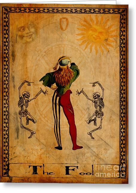 Tarot Card The Fool Greeting Card by Cinema Photography