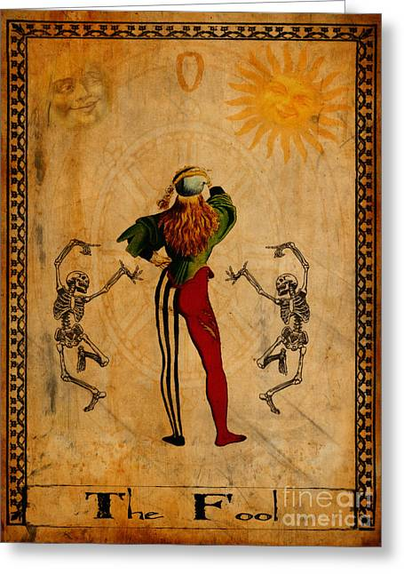 Religious Digital Greeting Cards - Tarot Card The Fool Greeting Card by Cinema Photography