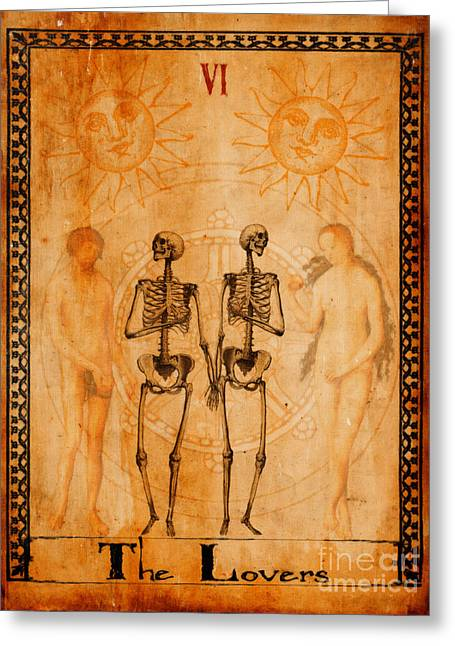 Mysticism Greeting Cards - Tarot Card The Lovers Greeting Card by Cinema Photography