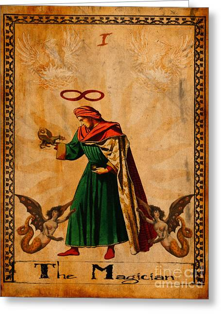 Magical Greeting Cards - Tarot Card The Magician  Greeting Card by Cinema Photography