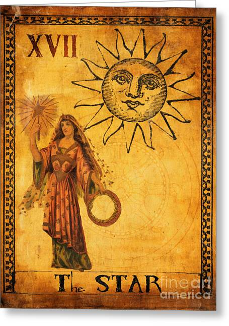 Mysticism Greeting Cards - Tarot Card The Star Greeting Card by Cinema Photography