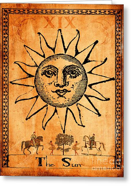 Gothic Digital Greeting Cards - Tarot Card The Sun Greeting Card by Cinema Photography