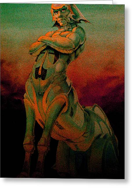 Science Fiction Pastels Greeting Cards - Tarot The Chariot Greeting Card by Eric Bakke