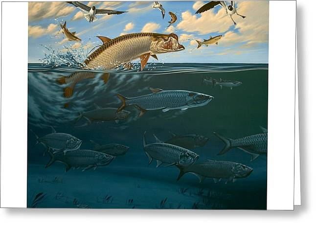 Philip Slagter Paintings Greeting Cards - Tarpon Bay Key largo Greeting Card by Philip Slagter