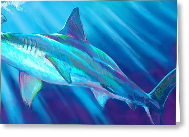 Shark Digital Art Greeting Cards - Tarpon season  Greeting Card by Yusniel Santos