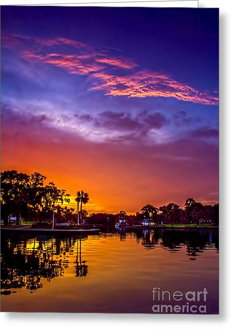 Tarpon Springs Glow Greeting Card by Marvin Spates
