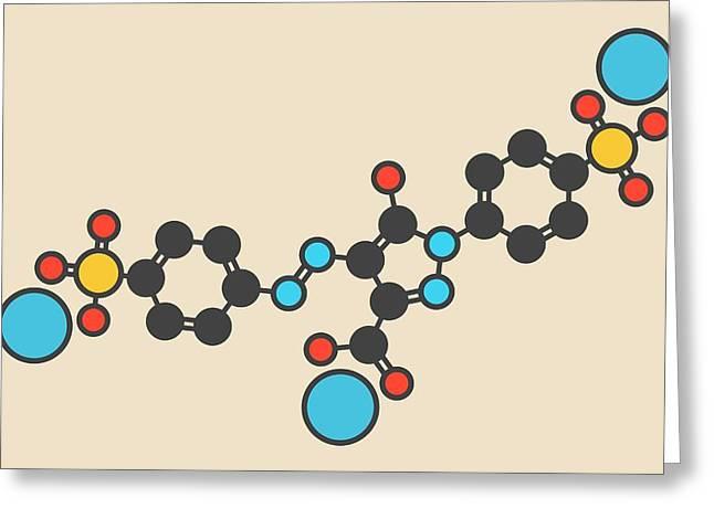 Tartrazine Food Dye Molecule Greeting Card by Molekuul