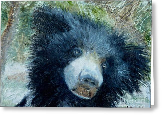 Taruni Bear Greeting Card by Ann Radley