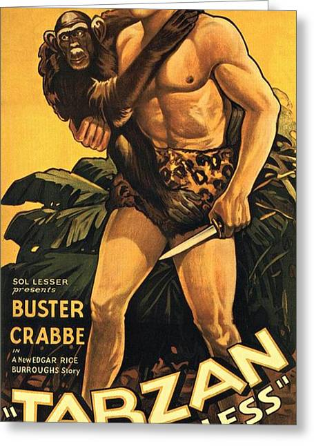 Movie Poster Prints Greeting Cards - Tarzan the Fearless  Greeting Card by Movie Poster Prints