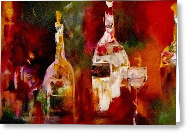Wine-glass Greeting Cards - Taste of Wine Greeting Card by Lisa Kaiser