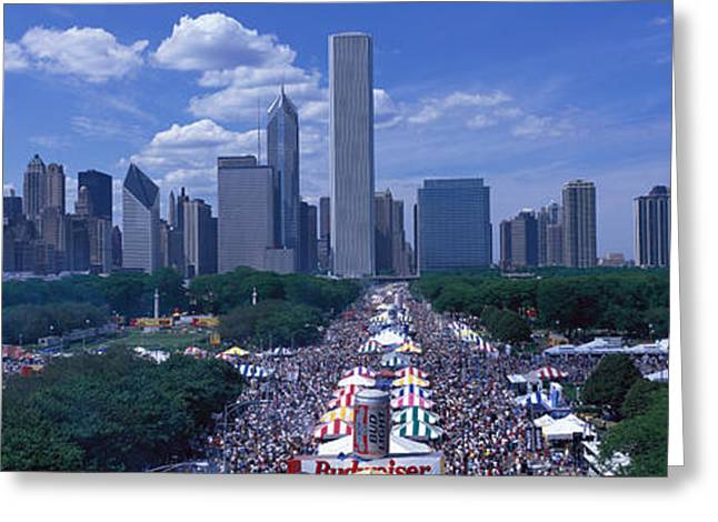 Festival Park Greeting Cards - Taste Of Chicago Chicago Il Greeting Card by Panoramic Images