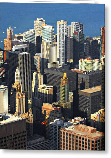 From Above Greeting Cards - Taste of Chicago from above Greeting Card by Christine Till