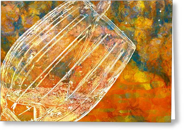 Wine Pour Greeting Cards - Taste The Rainbow Greeting Card by Dan Sproul