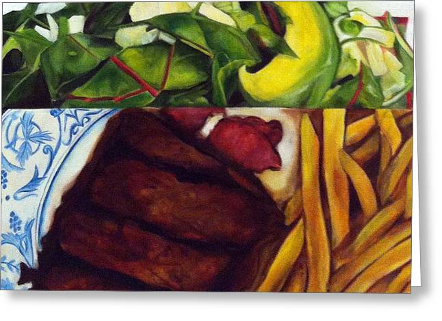 French Fries Paintings Greeting Cards - Taste Greeting Card by Violet Loy