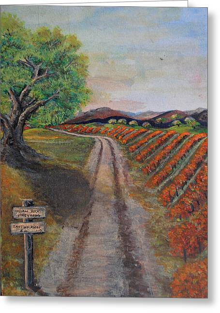 Dixie Adams Greeting Cards - Tasting Room Greeting Card by Dixie Adams