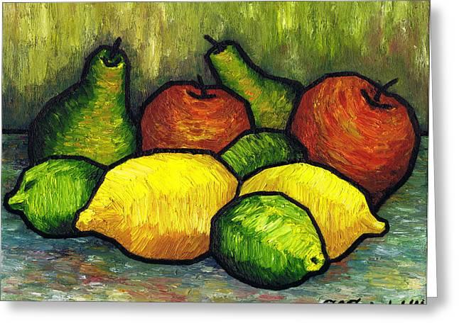 Polish Artists Greeting Cards - Tasty Fruits Greeting Card by Kamil Swiatek