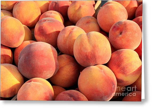 Deli Greeting Cards - Tasty Peaches Greeting Card by Carol Groenen