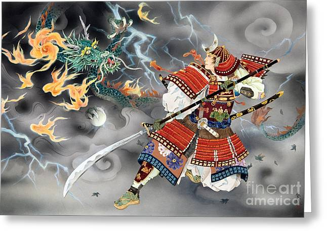 Art Print Digital Art Greeting Cards - Tatakai Greeting Card by Haruyo Morita