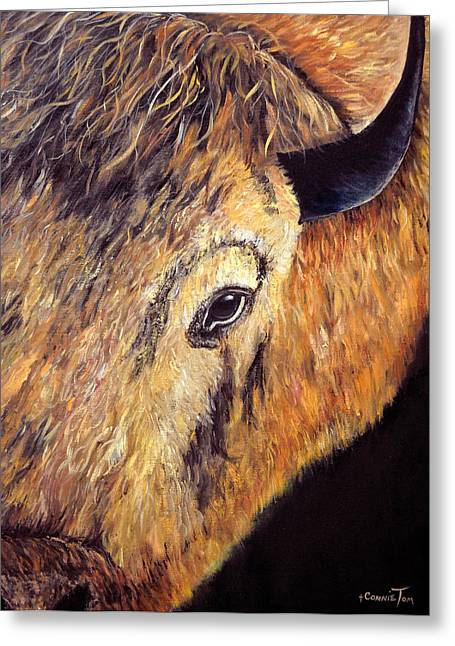 Westen Greeting Cards - Tatanka Greeting Card by Connie Tom