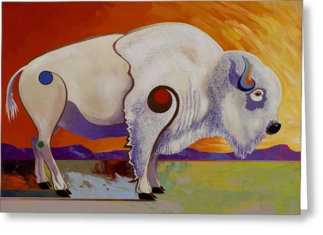 Stylistic Greeting Cards - Tatanka Ska  Greeting Card by Bob Coonts