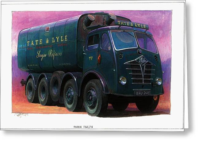 Original For Sale Greeting Cards - Tate and Lyle Foden. Greeting Card by Mike  Jeffries