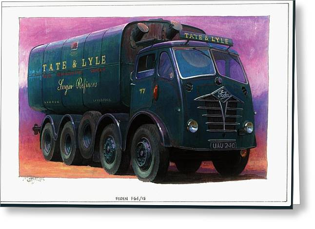 Tate and Lyle Foden. Greeting Card by Mike  Jeffries