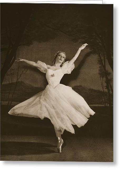 Tatiana Riabouchinska In Les Sylphides Greeting Card by French School