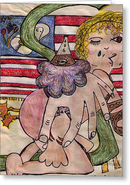 Pablo Picasso Drawings Greeting Cards - Tatoo Baby Greeting Card by Lois Picasso