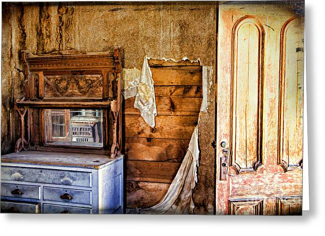 Wells Nevada Greeting Cards - Tattered Remains Greeting Card by Lana Trussell