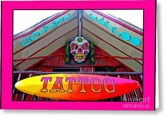 Store Fronts Greeting Cards - Tattoo Sign Digital Greeting Card by John Malone